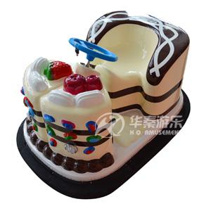 蛋糕碰碰车(咖啡色) 华秦游乐设备生产 品质有保证的碰碰车