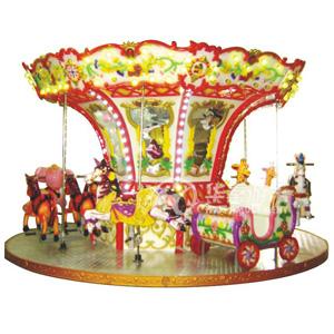 12人豪华转马设备 华秦游乐旋转木马设备 专业的游乐园生产设施厂家