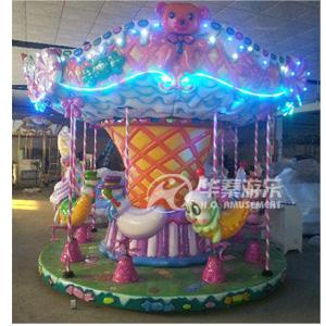 8人糖果转马游乐设备 华秦游乐园设施 专业的游乐设施厂家