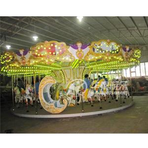 24人豪华转马设施 华秦游乐专业生产各位转马游乐园项目设施