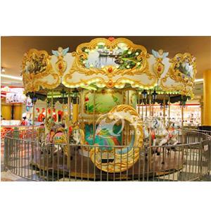 18座豪华转马游乐园设施 专业的游乐园设施生产厂家 华秦游乐园设施生产厂家