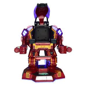 广场新宠游乐钢铁侠红色版本,广场行走机器人钢铁侠,钢铁侠广场机器人